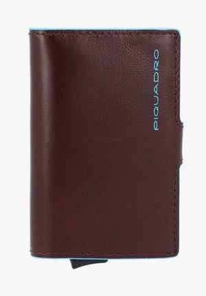 BLUE SQUARE LEDER - Business card holder - mahagonibraun