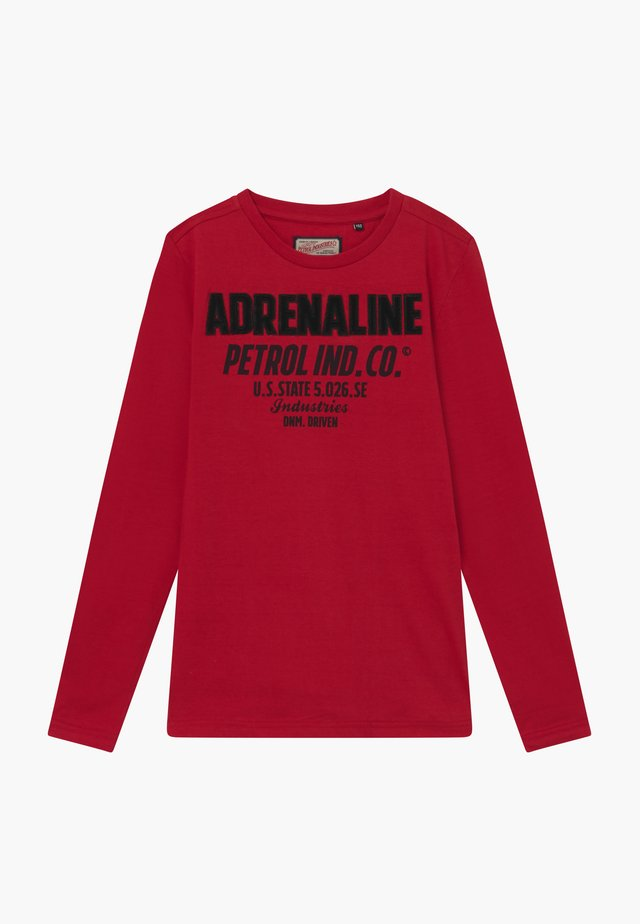 Long sleeved top - fire red