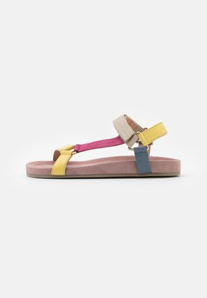 PEACE - Sandals - rosa/multicolor