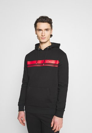 STRIPE LOGO TRACKSUIT SET - Sweat à capuche - black