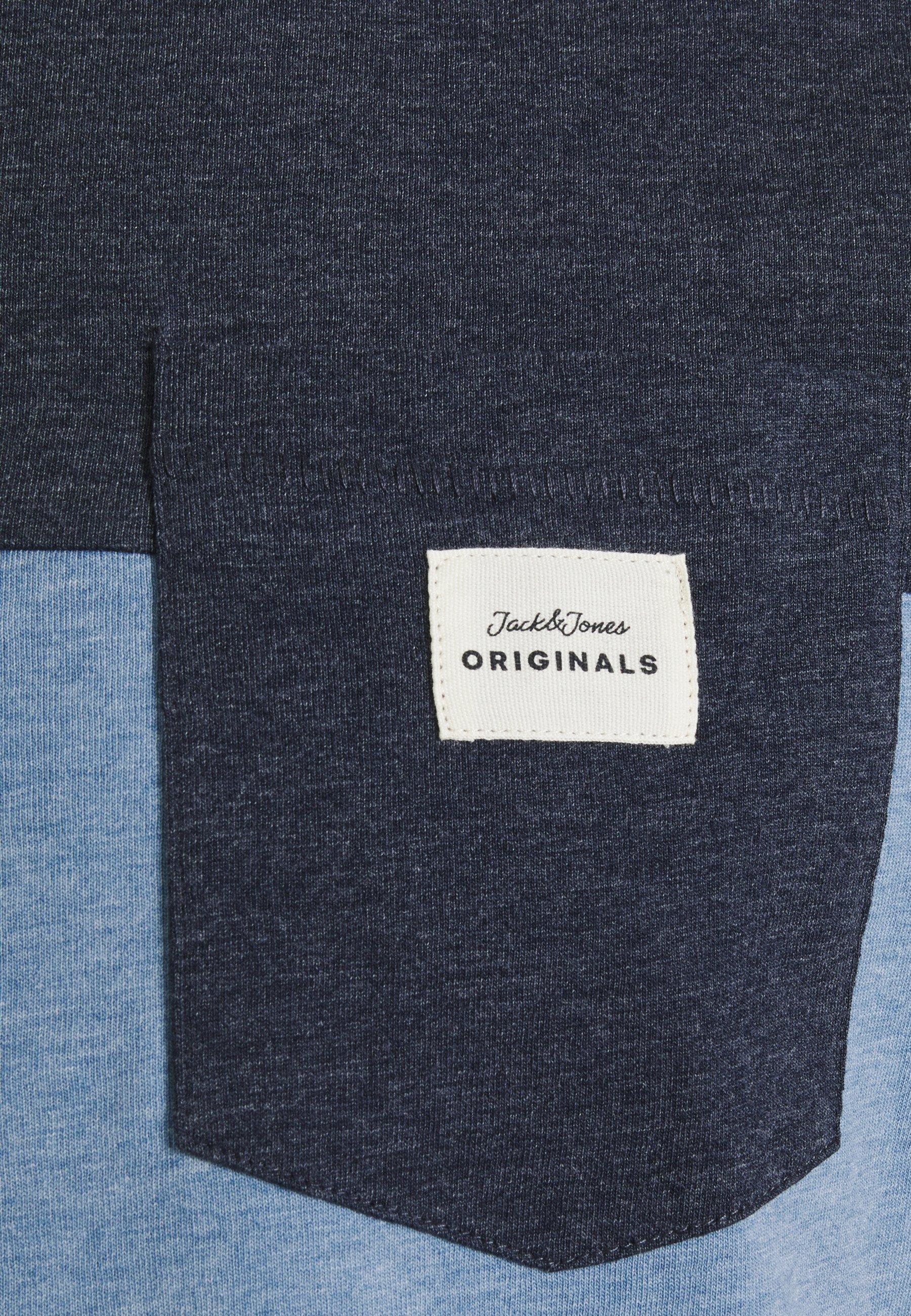 Jack & Jones JORMELANGE - Print T-shirt - blue heaven melange 1vOM0
