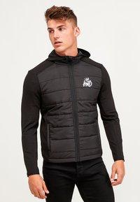 Kings Will Dream - MORSTON HYBRID PUFFER JACKET - Light jacket - black - 0