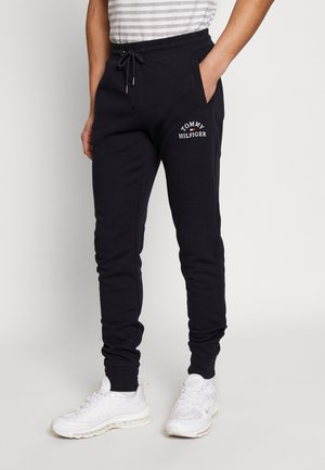 BASIC EMBROIDERED PANTS - Tracksuit bottoms - blue