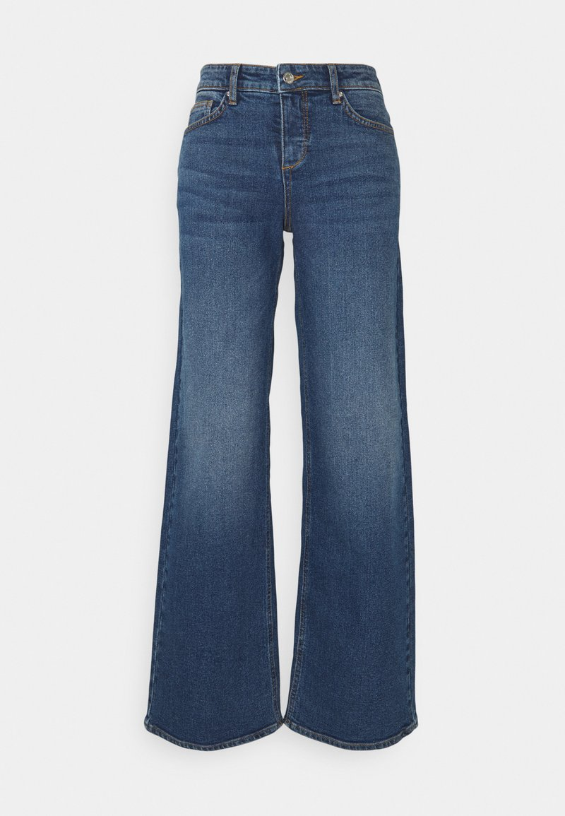 b.young - BYKATO BYLISA WIDE LEGS  - Relaxed fit jeans - mid blue denim