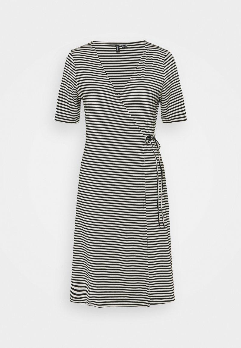Vero Moda Tall - VMKATE SHORT DRESS - Jersey dress - black/white