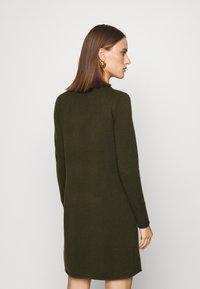 FTC Cashmere - DRESS - Jumper dress - bronze green - 2