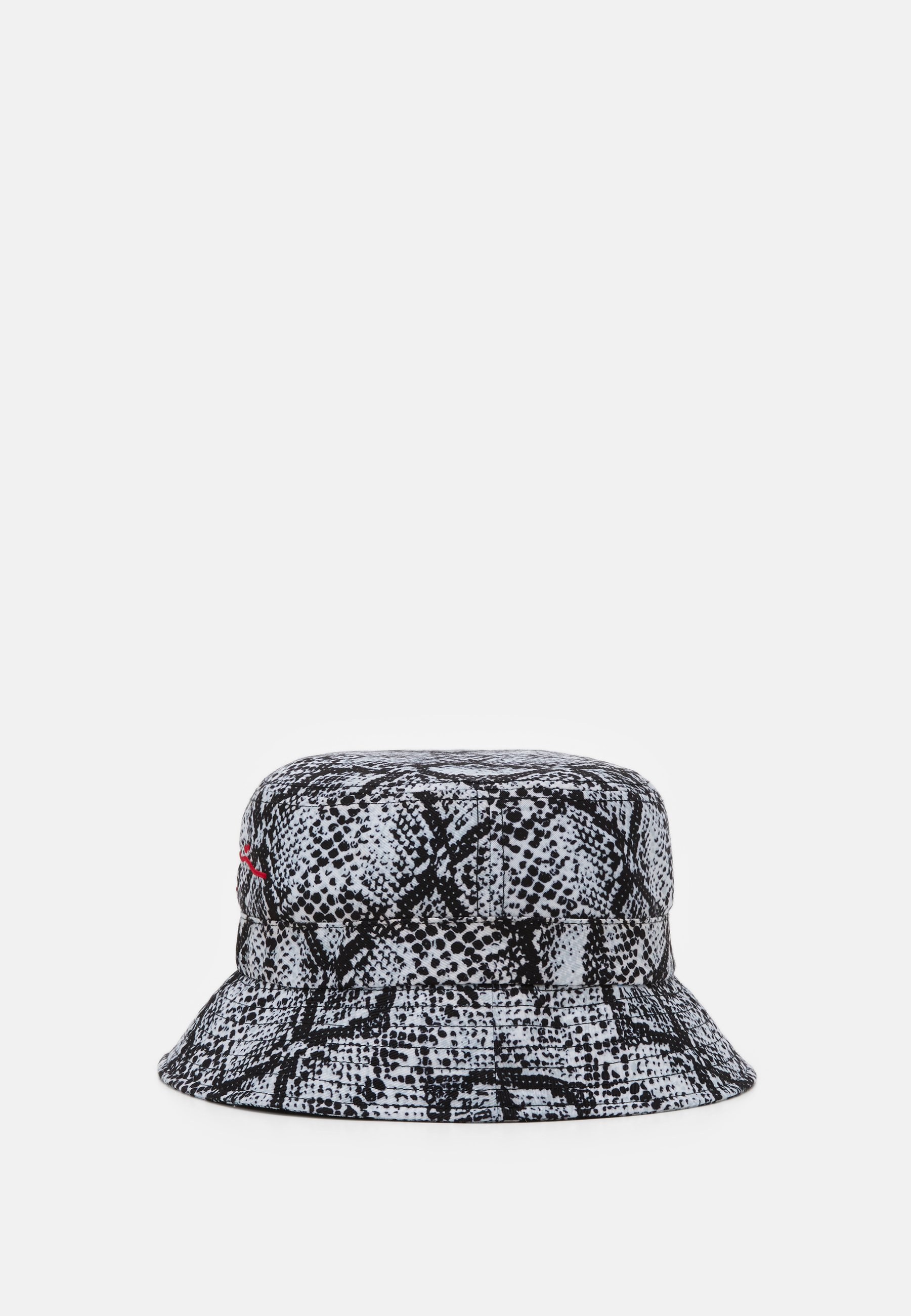 Karl Kani SIGNATURE SNAKE BUCKET HAT - Hatt - black/white/red/svart W3dUFb32yQPDicT