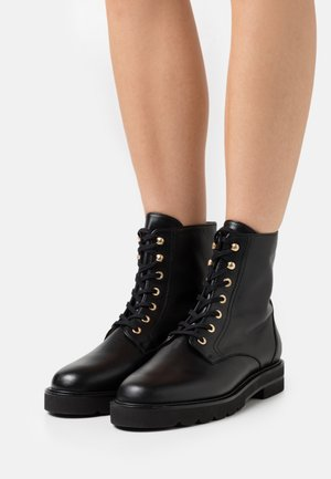 MILA LIFT BOOTIE - Lace-up ankle boots - black