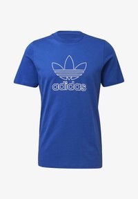 adidas Originals - TREFOIL LOGO OUTLINE T-SHIRT - Print T-shirt - blue - 8