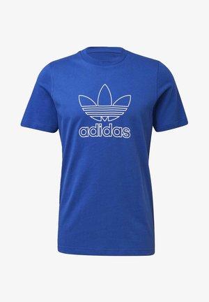 TREFOIL LOGO OUTLINE T-SHIRT - Print T-shirt - blue