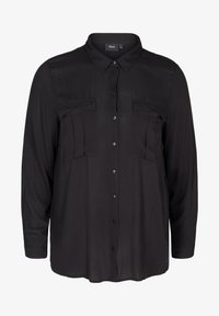 Zizzi - Button-down blouse - black - 3