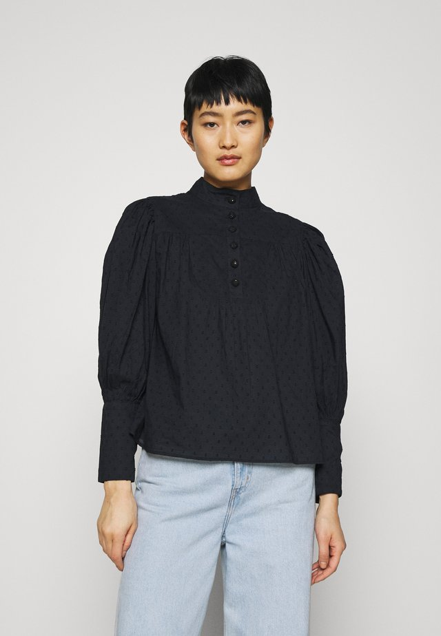 PUFF SLEEVE BLOUSE - Blůza - black