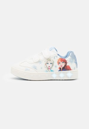 Disney Frozen Elsa Anna GEOX JUNIOR SKYLIN GIRL - Baskets basses - white/sky