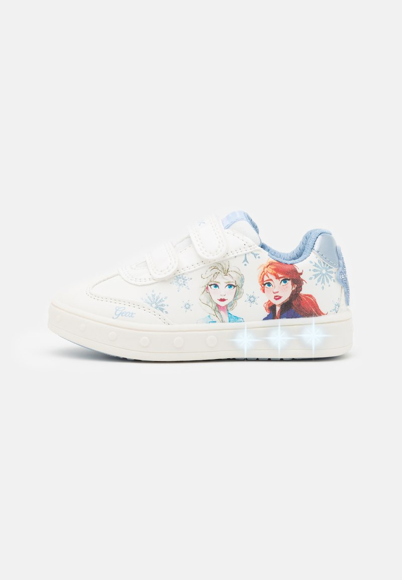 Geox - Disney Frozen Elsa Anna GEOX JUNIOR SKYLIN GIRL - Tenisky - white/sky