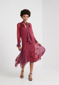 Strenesse - DRESS DIAMONDE - Maxi dress - navy/red - 1