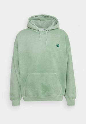 CORE OVERDYED HOODIE WITH YIN YANG UNISEX - Collegepaita - mint green