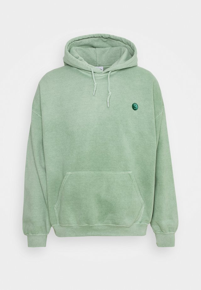 CORE OVERDYED HOODIE WITH YIN YANG UNISEX - Sweatshirt - mint green