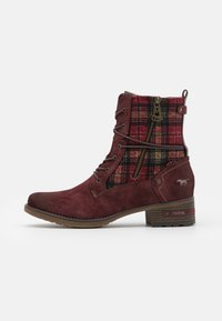 Mustang - Lace-up ankle boots - bordeaux - 1
