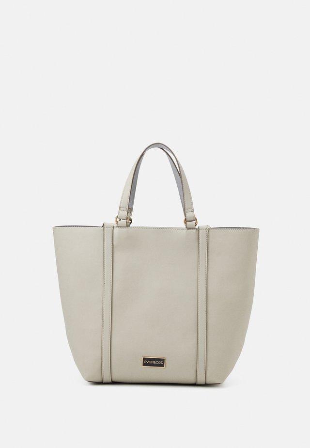 Shopping bag - beige/blue