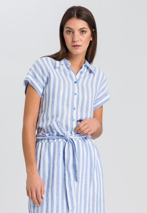 Button-down blouse - blue varied