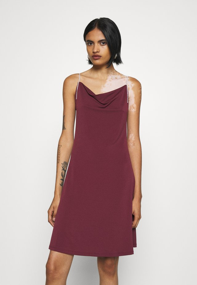 VMBLAIR SINGLET SHORT DRESS - Cocktail dress / Party dress - fig