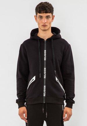 REPEAT  - Sweater met rits - black