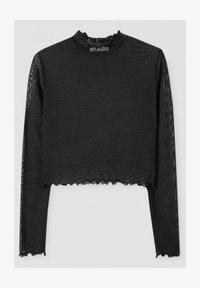 PULL&BEAR - Long sleeved top - mottled black - 4