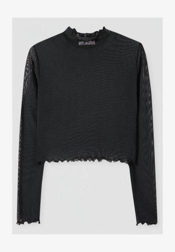 Long sleeved top - mottled black
