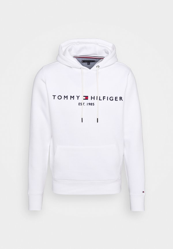 Tommy Hilfiger LOGO HOODY - Bluza z kapturem - white/biały Odzież Męska YPQG