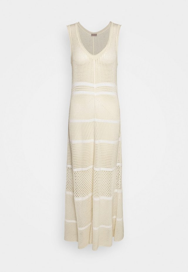 STICK LANG - Maxi dress - opti-white vanilla yellow