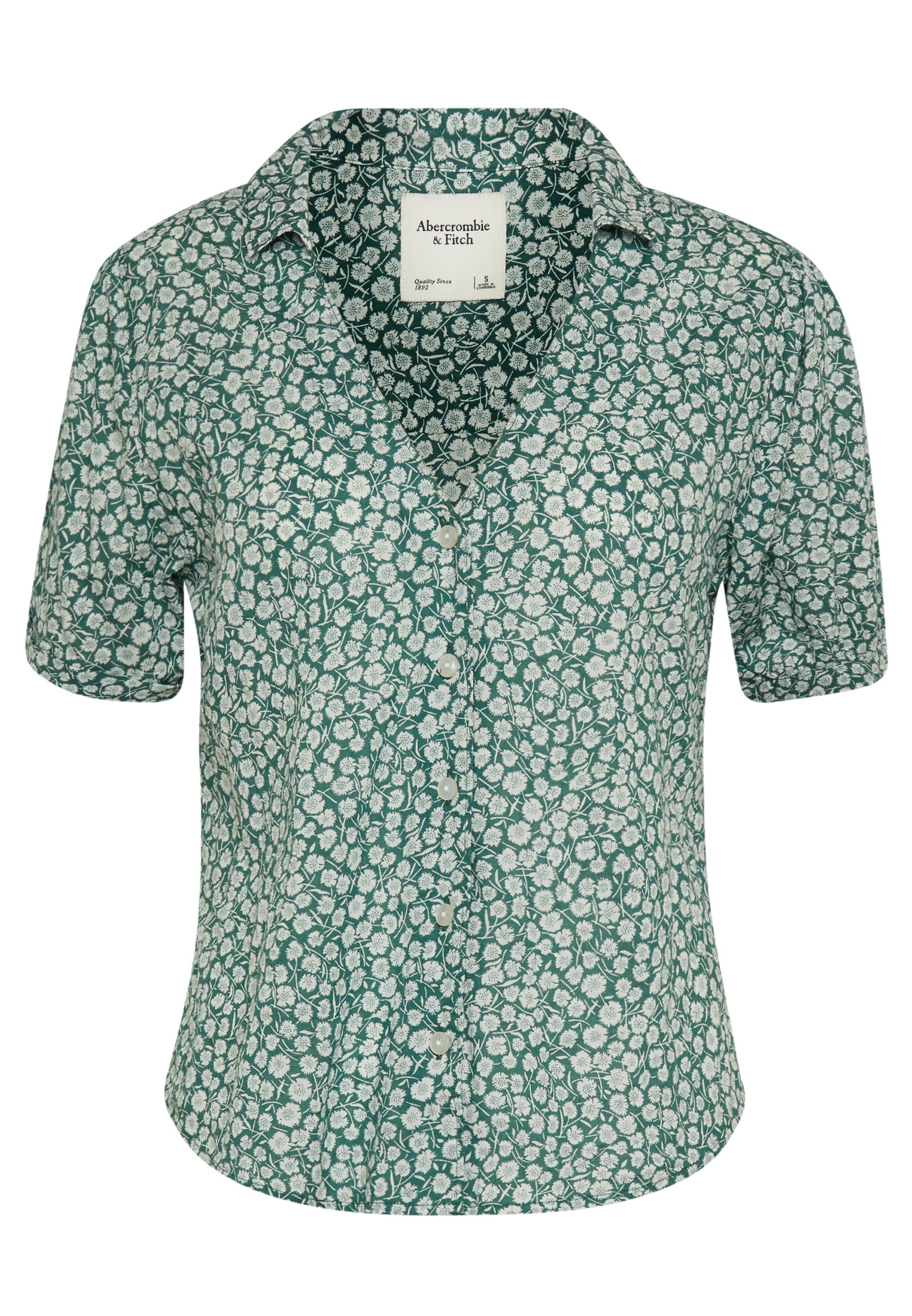 Abercrombie & Fitch SUMMER Skjorte green Zalando.no