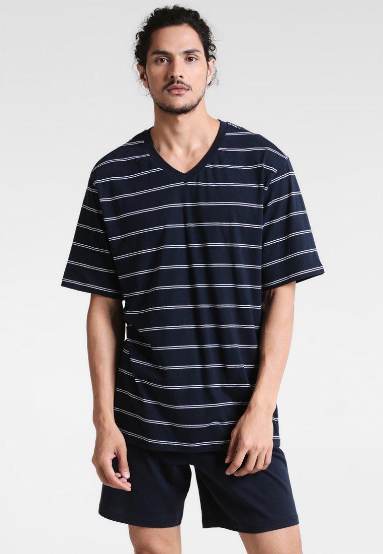 Schiesser - ANZUG KURZ SET - Pyjama - dunkelblau