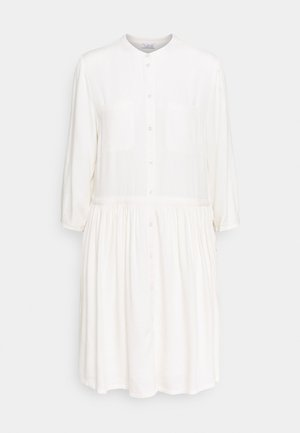 DRESS WITH VOLANT - Day dress - wool white