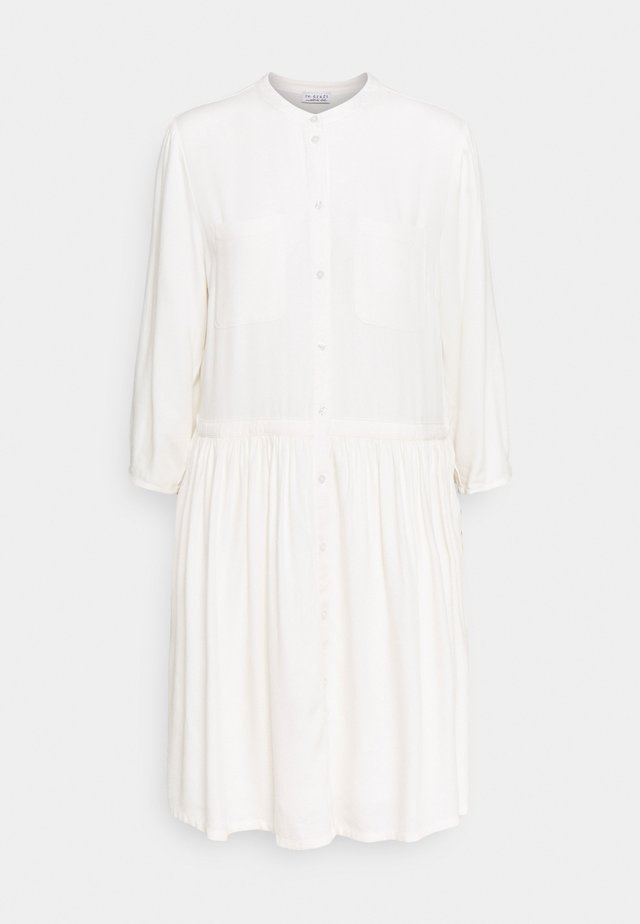 DRESS WITH VOLANT - Kjole - wool white