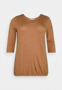 MY TRUE ME TOM TAILOR - PLEAT DETAIL - Long sleeved top - light chestnut - 4
