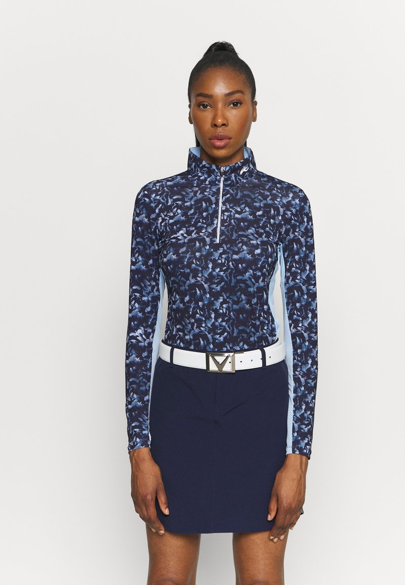 Kjus - WOMEN SUNSHINE SPORT HALF ZIP - Long sleeved top - atalanta blue/cloud blue