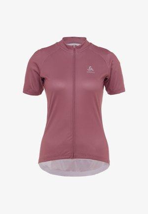 STAND UP COLLAR FULL ZIP FUJIN PRINT - T-shirts print - roan rouge