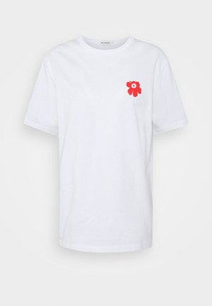 KIOSKI VAHVA UNIKKO - Print T-shirt - orange red/white