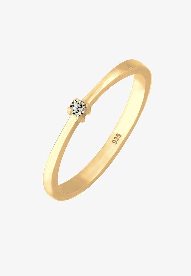 SOLITÄR - Ring - gold-coloured/white