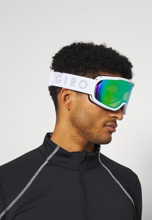 ROAM - Ski goggles - white core loden green/yellow