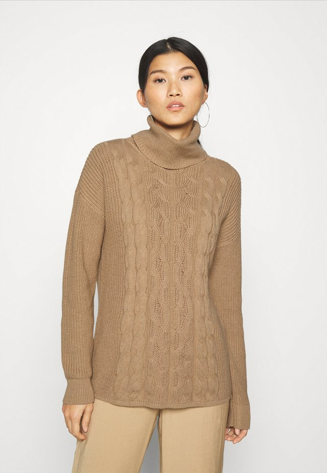 CABLE  - Sweter - classic camel
