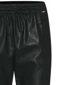 Cinque - CISOLA - Leather trousers - schwarz - 2