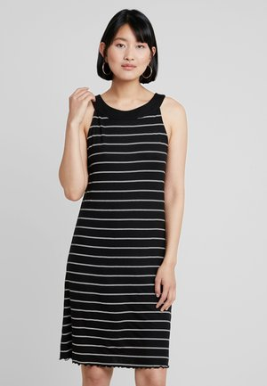 AMERICAN NECKLINE DRESS - Žerzejové šaty - black
