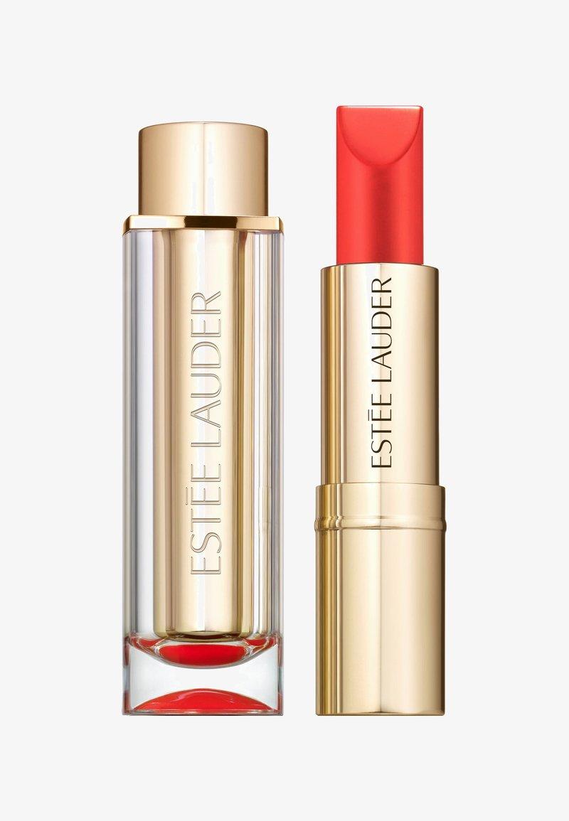 Estée Lauder - PURE COLOR LOVE LIPSTICK CREMÉ - Rouge à lèvres - 340 hot rumor