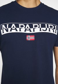 Napapijri - SARAS SOLID - Print T-shirt - medieval blue - 4