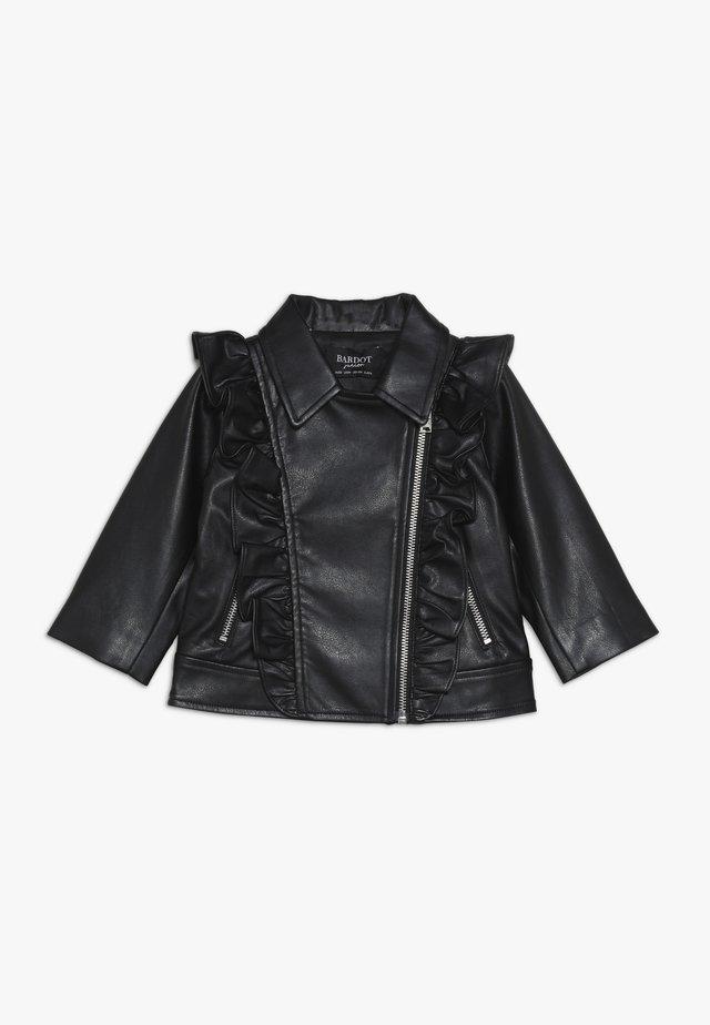 JACKET - Chaqueta de cuero sintético - black