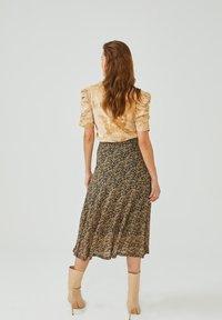 Aaiko - FRAIDA - A-line skirt - black dessin - 2