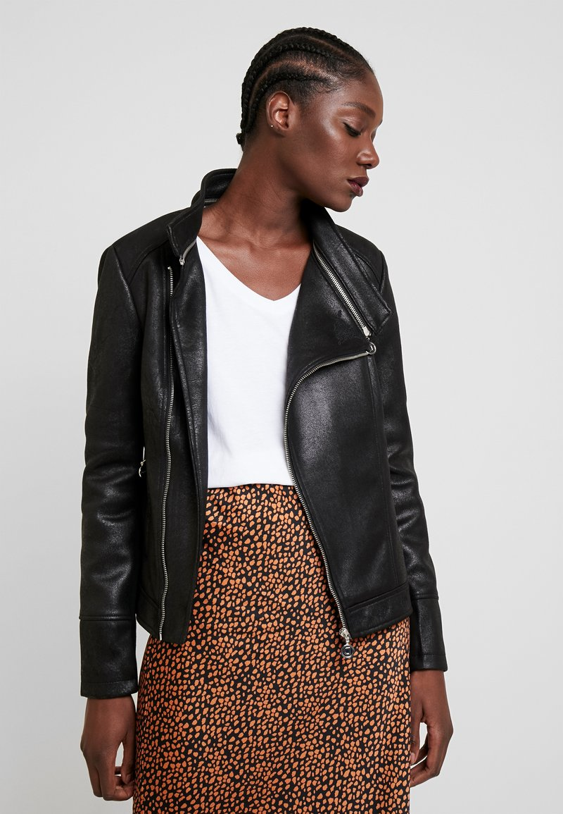 Desigual - BROWARD - Imitatieleren jas - black