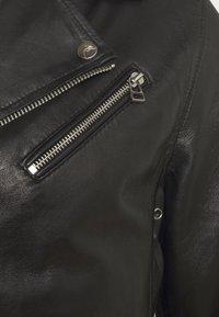 Goosecraft - VICK BIKER - Leather jacket - black - 7