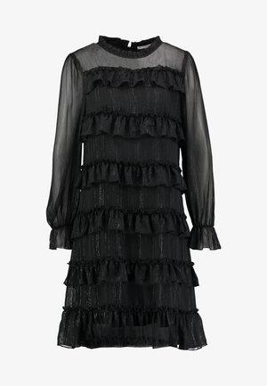 PAULINALC FLOUNCES DRESS - Vapaa-ajan mekko - pitch black